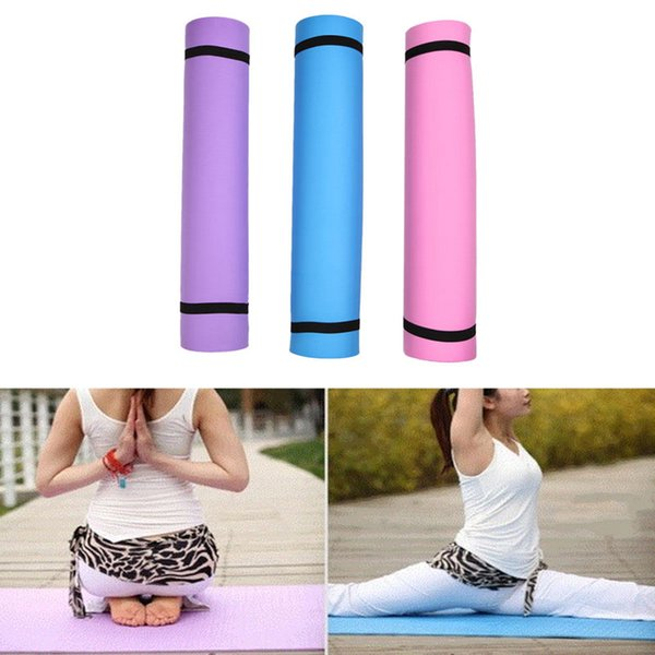 New 1Pc 4mm Thickness Yoga Mat Non-slip Exercise Pad Health Lose Weight Fitness Durable