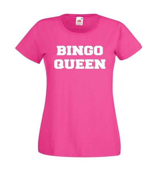 BINGO-KÖNIGIN-Muttergroßmuttermammaweihnachtsgeburtstagsgeschenkoberseiten-T-SHIRTFunny der Männer der Frauen freies Verschiffen Unisexbeiläufiges T-Shirt Geschenk