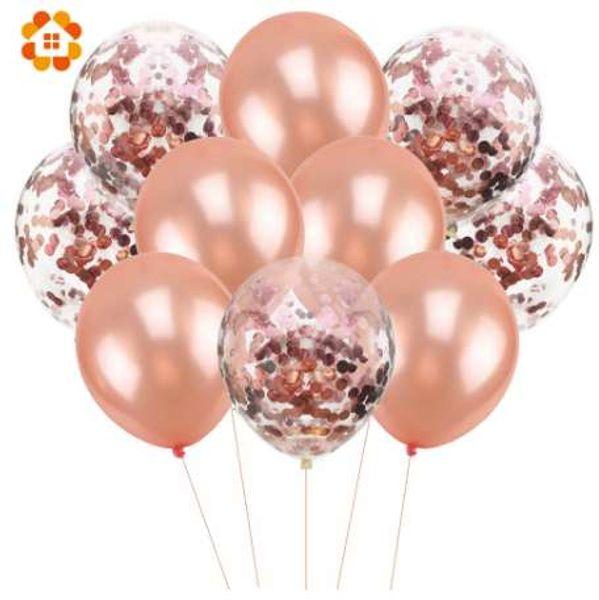 10 Pçs / lote 12 polegadas Confetti Balões de Ar Balões de Festa de Aniversário Feliz Hélio Balão Decorações Balões De Casamento Fontes Do Partido