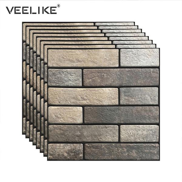 3D Brick Self Adhesive Wallpaper for Kitchen Backsplash Tiles Peel and Stick PVC Wall Paper for Bathroom Living Room Home Decor