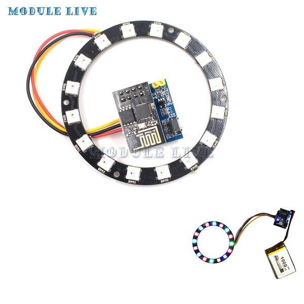 2019 ESP8266 ESP 01 ESP 01S RGB LED Controller Adpater WIFI Module For  Arduino IDE WS2812 WS2812B 16 Bits Light Bar Ring DIY Kits From Burty,  $36 03 |