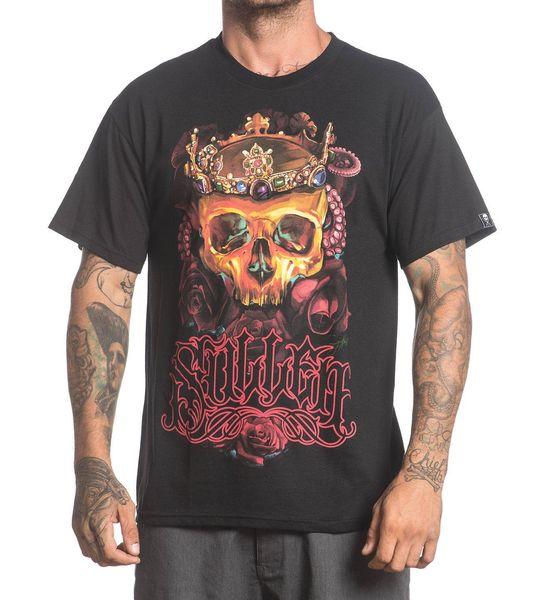 SULLEN COLOURFUL CROWN OF ROSES SKULL TATTOO T SHIRT S M L XL 2XL 3XL NEW UK Print T-Shirt Mens Summer