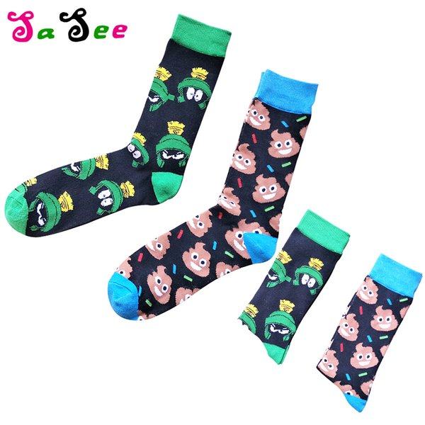 Hot New Brand Quality Cartoon Frog Patterned Men Socks Colorful Combed Cotton Happy Socks Autumn Fashion Funny Business Male Sox
