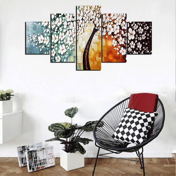 Acheter Moderne Dessin Animé Abstrait Animation Fleur Hd Imprimer Peinture à L Huile Sur Toile Accueil Mur Art Photo Pour Le Salon Décoration De