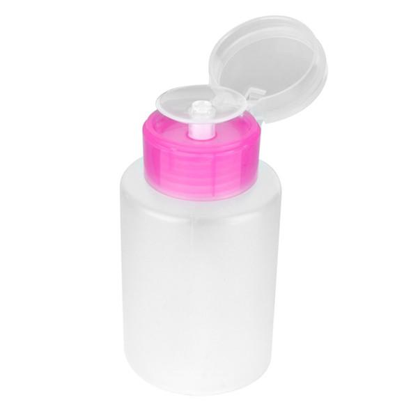 Vacío claro bomba dispensador botella para acetona removedor de esmalte alcohol líquido aceite Nail Art perfume contenedores cosméticos cosméticos