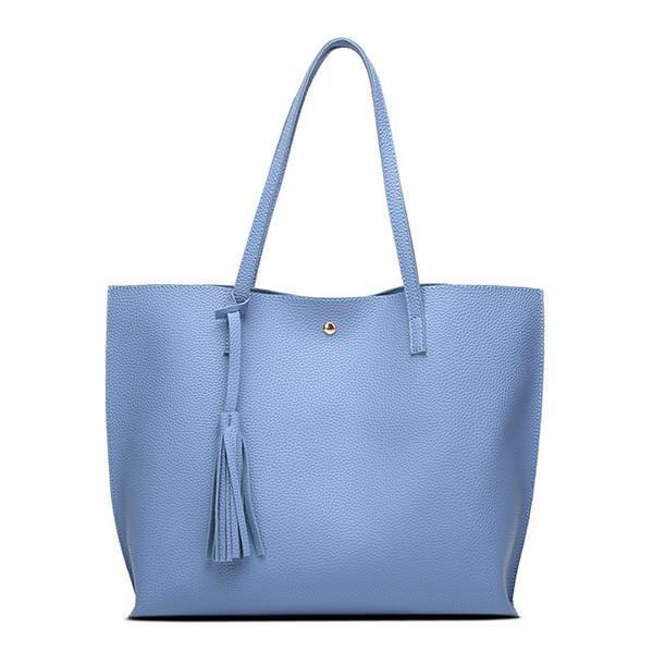 Famous Brand Designer Fashion Women Shoulder Bag Soft Leather Tote Bags Ladies Tassel Tote Handbag High Quality Women's Handbags Wholesale