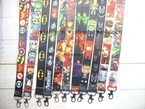 Wholesale Popular Cartoon Super hero Avengers Neck Lanyards Keychain ID Badge Holder g-51
