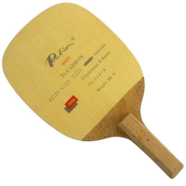 Palio 8603 Ti-Carbon Table Tennis Blade (Japanese Penhold) for PingPong Racket