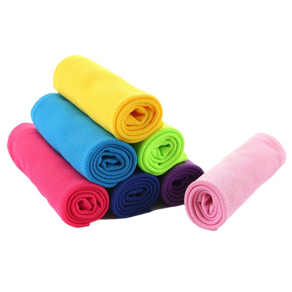 Multicolor 90*30cm Ice Sports Towel Utility Enduring Instant Cooling Towel Heat Relief Reusable Chill Cool Cold