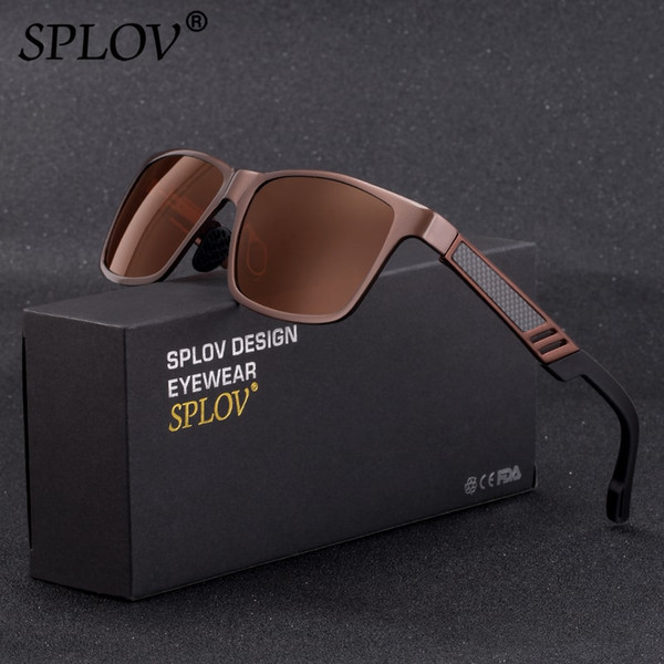 SPLOV Fashion Men Driving Sunglasses Women Polarized Lens Aluminium Magnesium Frame Spring Leg Eyewear Gafas De Sol Hombre UV400