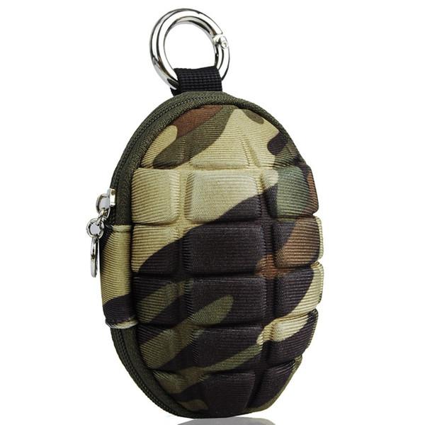 Stilvolle kleine Persönlichkeit Frag Camouflage Muster Münze Brieftasche mit Reißverschluss Herren Bomb Key Bag wasserdichte Frauen Geldbörse ändern