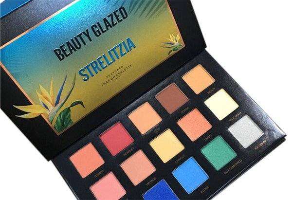 Newest Beauty Glazed Eyeshadow Palette 15 Colors Eye Shadow Palette strelitzia Cosmetics Top Quality DHL Free