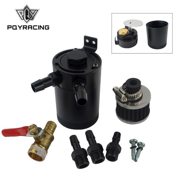 PQY - Universal Billet Aluminium verblendeter Ölauffangbehälter mit Entlüftungsfilter Motor Mini-Ölabscheider PQY-TK92