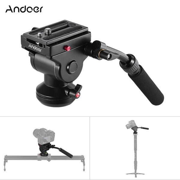 Andoer Aluminum Tripod Head Panoramic Photographic Head With Action Fluid Drag Pan For Canon Nikon Sony DSLR Camera
