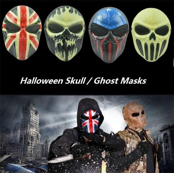 Máscaras de Halloween Zombie Skull Mask Personalizado CS Completa Rosto WarriorGame Máscara Máscara de Fantasma Assustador Máscaras de Festa I310