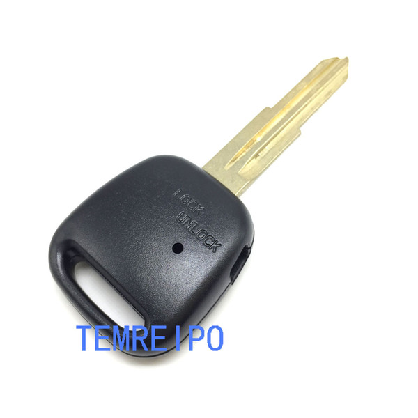 Remote Car Key Case Shell Fob With One Hole On The Side And Uncut Right Blade For Toyota