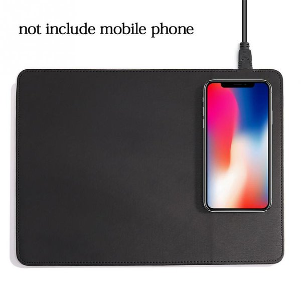 USB Wireless Charging Mouse pad Mobile Phone Charger Multi-functional PU Leather Mouse Mat Fast Charging Universal