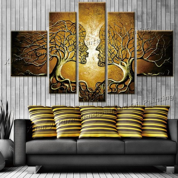 2019 2017 Cuadros Decoracion Wall Art Home Decoration Tree Of Life Pictures Abstract Oil Painting On Canvas For Living Room From Bowse 401