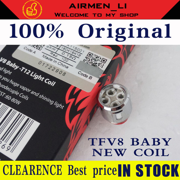 100% Original TFV8 Baby Q4 Mesh Strip T12 Red Green Orange Light  Replacement Coils For TFV12 Baby Prince Tank DHL Vape Coils Coil For  Atomizer From