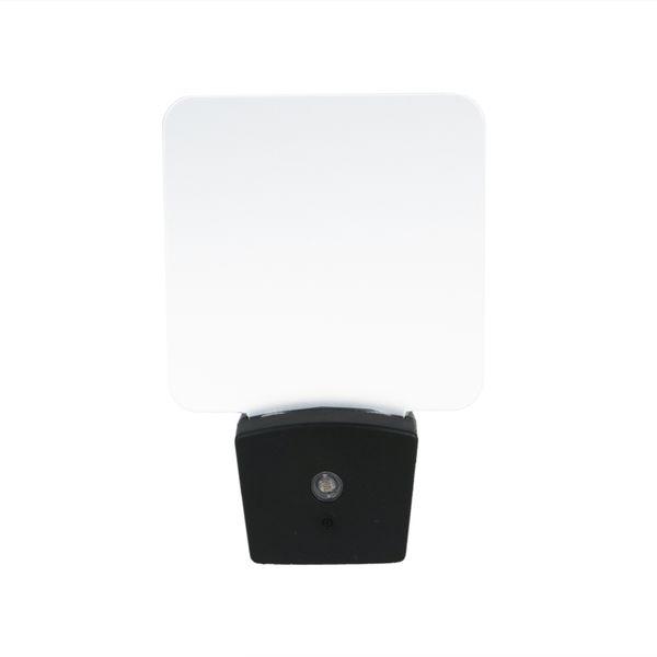Mini RGB LED Optical Night Lamp Sensor de luz incorporado US Wall Plug7 RGB Lights Placa de acrílico en blanco al por mayor
