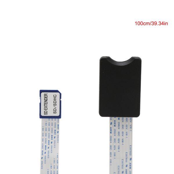 SD mâle à SD femelle SDHC SDXC lecteur de carte extension adaptateur câble prolongateur pour téléphone voiture GPS TV 10/15/25 / 46cm