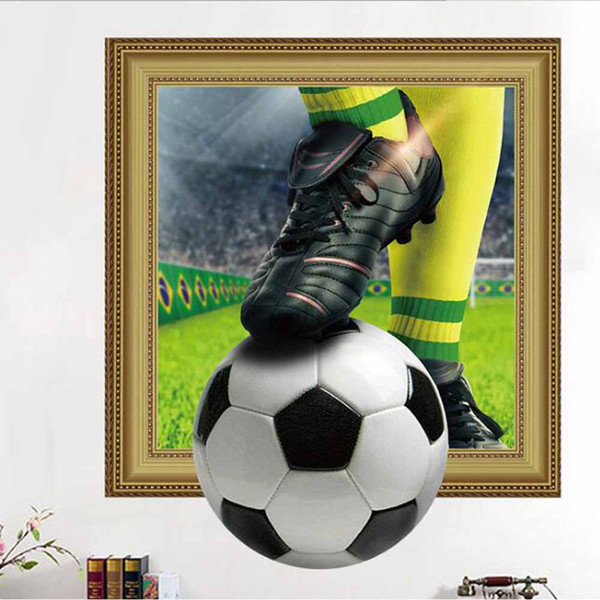 3D Football Wall Sticker Star Poster Living Room Bedroom Background Wall  Sticker Childern Room Decor Home Decor Decals Walls Deco Stickers For Walls  ...