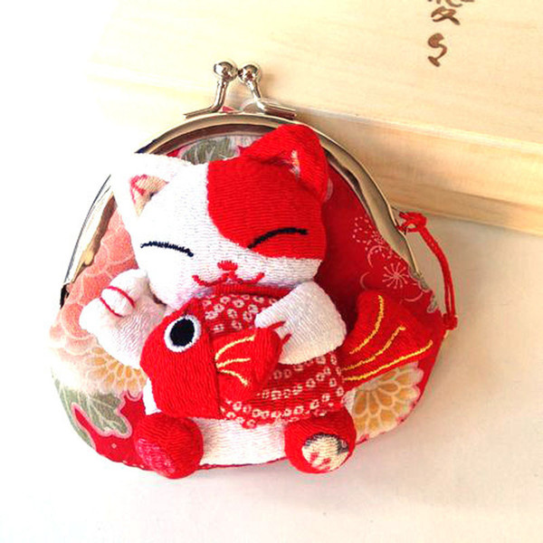 Cute Lucky Cat A Variety Of Image Zero Wallet Cloth Coin Puses Canvas Bag Women Student Gift Wholesale QW7364