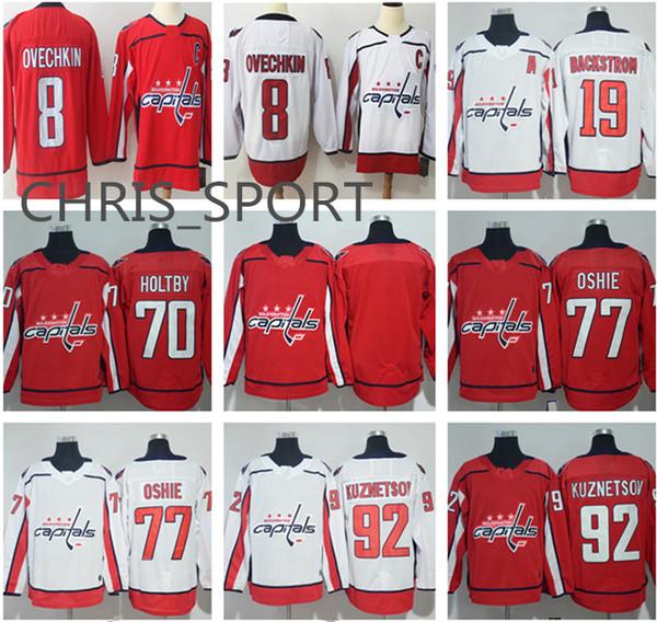 Camisetas de hockey Washington Capitals   92 Evgeny Kuznetsov 43 Tom Wilson 8  Alex Ovechkin 19 675e3b5ff5cb9