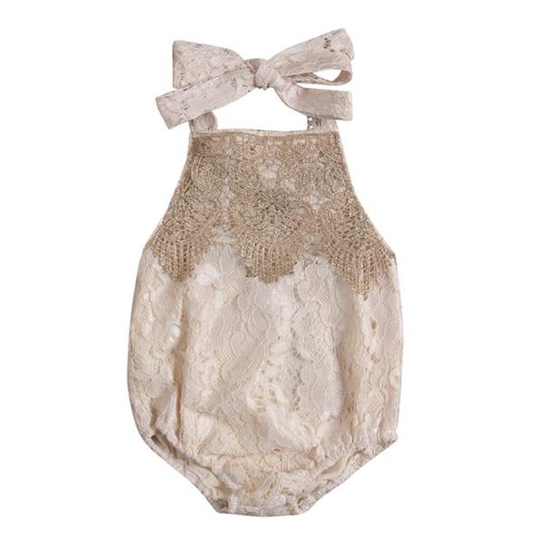 Compre Bebé Recién Nacido Bebé Halter De Algodón Sin Respaldo De ...
