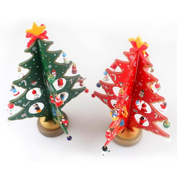 Creative Diy Wooden Christmas Tree Table Desk Decoration Xmas Tree