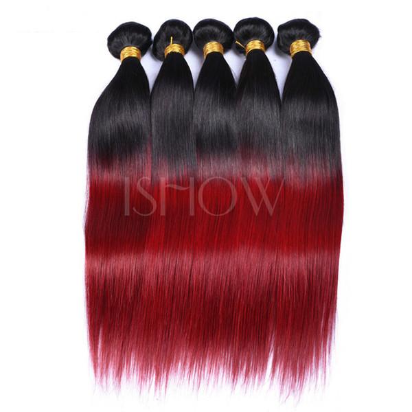 BUG glattes haar bündelt haare Echte person haarverlängerung Virgin Bundles Brasilianische Reine Haarbündel mit Verschlüsse