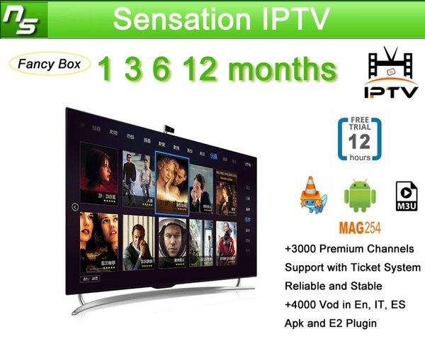 Europe IPTV French Arabic Belgium IPTV Subscription For Android Smart TV  Box As XIAOMI H96 X96 X92 MAG254 MAG250 Samsung SmartTV Box Tv Android Set