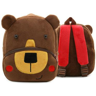Coffee bear backpack Useful shape toy day pack Young child school bag Kids packsack Plush rucksack Sport schoolbag Outdoor daypack