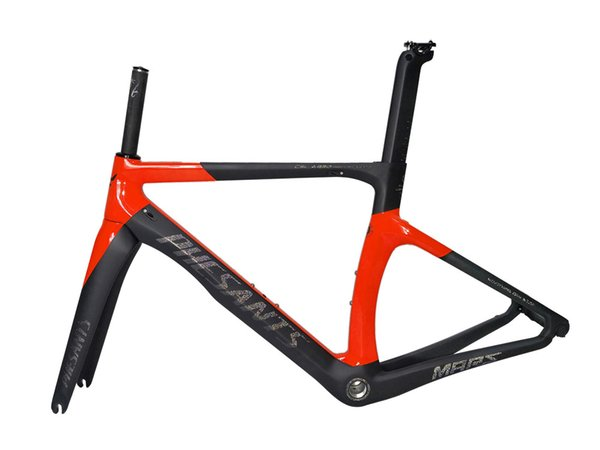 2019 PHESANTS MARS Black Red T800 Carbon Fiber Road Bike Frame Racing Bicycle Carbon Frame Fit For Mechanical and DI2 Electronic