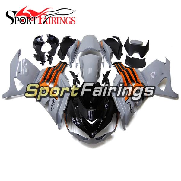 Carenados de inyección para Kawasaki ZX-14R ZZ-R1400 12 13 14 15 2012 -2015 ABS Motocicleta Carrocería Motos Cubiertas Naranja Gris Nuevo