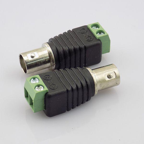 100pcs Coax Cat5 to BNC Female Connectors Video Plug Adapter BNC Plug UTP Video Balun Connector for CCTV Camera