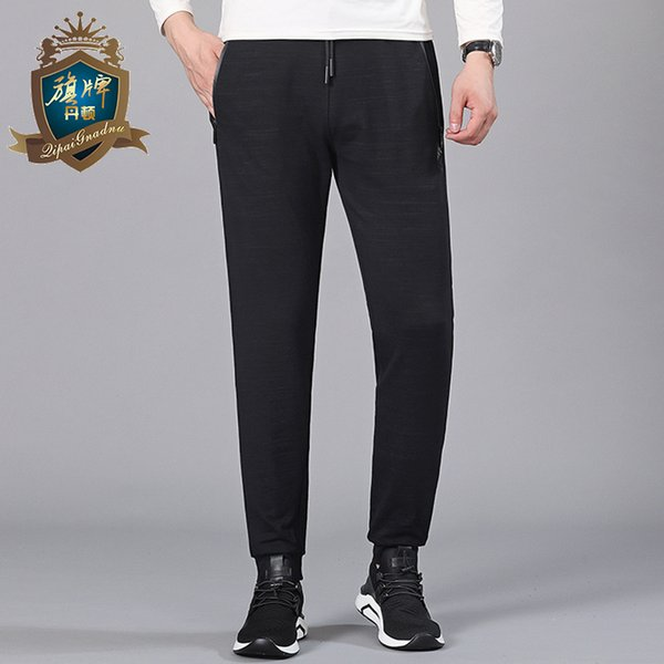 2018 Brand New Long Men Big Size 6XL Straight Trousers Cotton Casual Pants Man Black Gary Pants Male Free Shipping Top Quality