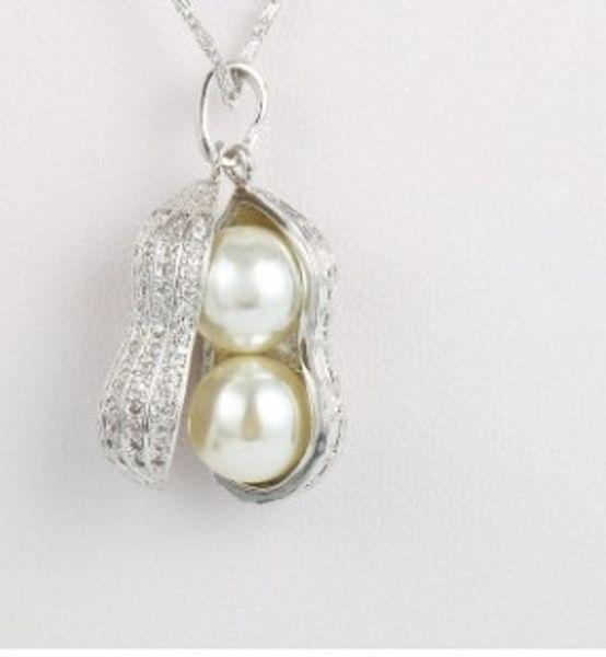 chaming перла 925 серебряный привесной ожерелье дамы (17.8) dfgdf