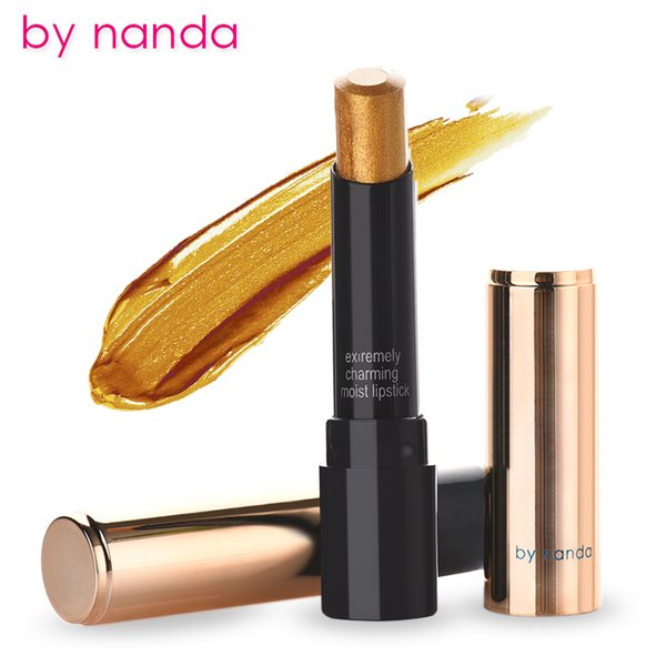 Gold Lipstick Long-lasting Moisture Mae lip stick Waterproof Lipsticker Easy To Wear 24 Colors Choice korean lipstick
