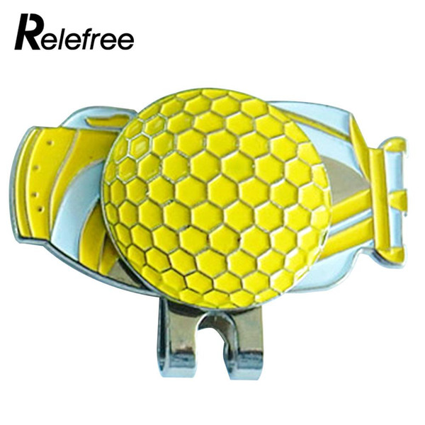 Golf Cap Clip Golf Ball Marker Protect Decoration Sign Magnetic Hat Clip Shoes Alloy Club