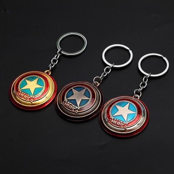 The Avengers Captain America Shield Keychain Superman Superhero Batman Thor Hammer KeyChain Ring Key Ring Fashion Accessories Party Gift