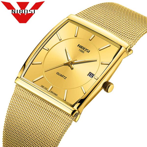 NIBOSI Orologi Gold Watch Uomo Oro Luxury Classic Business Acciaio Sport Watch Uomo Impermeabile Marchio Mens Orologi Top Brand di lusso
