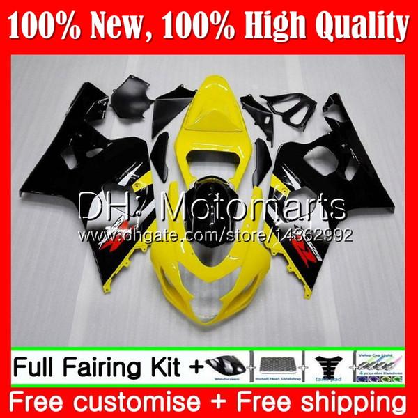 Front Nose Cowl Upper Fairing For SUZUKI GSXR600 GSXR750 2004-2005 K4 Red Black