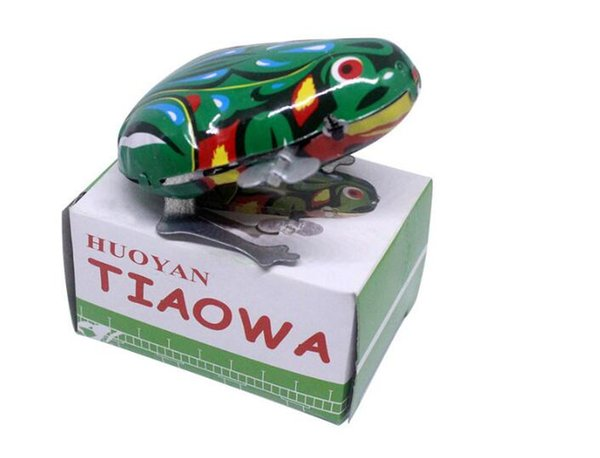 best selling Color iron leather frog hair tank childhood toys