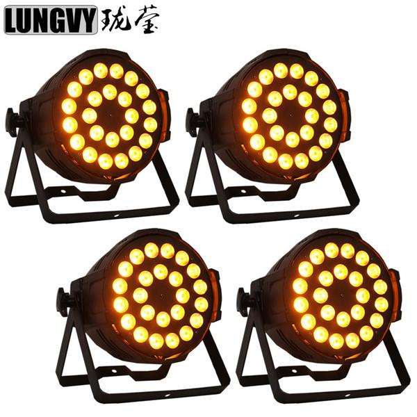 4pcs / lot 24x18w RGBWA UV 6in1 Indoor Led Par Light 6 / 10CH DMX Color Changing Dream Effect Lighting для Ktv/Bar/Show / Video / Party / Stage