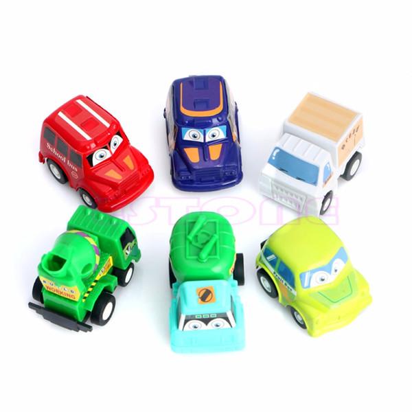 New 6Pcs Classic Boy&Girl Truck Vehicle Kids Child Toy Mini Small Pull Back Car