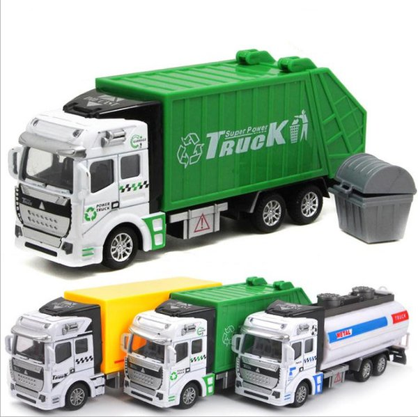 1:48 alloy pull back engineering vehicle model,dump truck,military vehicle,express car,sprinkler,Fire truck,free shipping