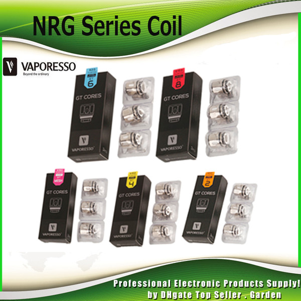 Original Vaporesso NRG Coil Head GT2 GT4 GT6 GT8 GT Mesh 0.18ohm 0.3ohm 0.5ohm Core Replacement Coils For Revenger Kit 100% Authentic