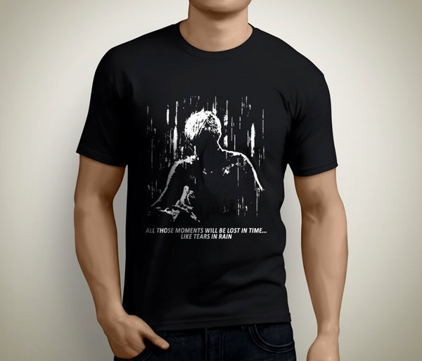 New Blade Runner Tears In Rain Short Sleeve Men's Black T-Shirt Size S To 3XL New Brand-Clothing T Shirts Top Tee Plus Size