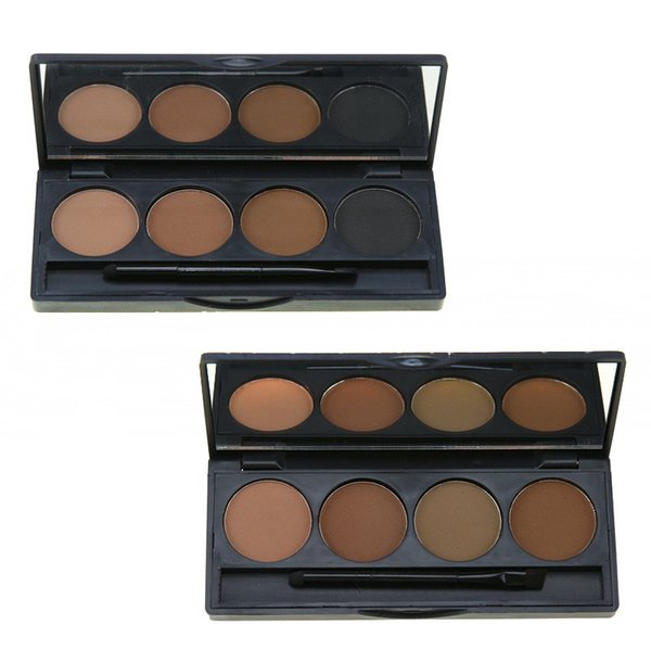 4 Color Eyebrow Powder Seal Waterproof Eyebrow Stamp Eyebrow Shadow Set Natural Shape Brow Stamp Powder Palette Delicated